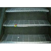 Quality Outdoor Metal Grate Stair Treads, Galvanized Metal Step TreadsCheckered Nosing for sale