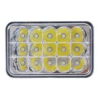 Quality 5 Inch 45W Square Jeep LED Headlights High Low Beam Jeep Front Lights for sale