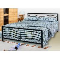 Buy cheap Modern Steel Frame Metal Frame Bed Wedding Bedroom Furniture Simple Assemble product