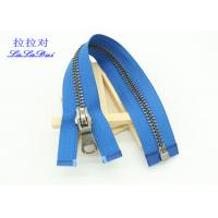 Quality Silver Brass Teeth 25 Inch Metal Separating Zipper Customized For Sweater / Coats for sale