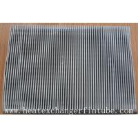Quality Continous Piece Single Row Flat Fin Tube , Fin Per 1 Meter 250 Or 333 for sale