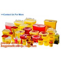 Quality Yellow Plastic Medical Sharp Container for needles, Health and Medicals use disposable 5L Sharp container, sharp contain for sale