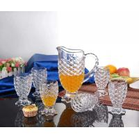 Quality 7Pcs Glass Water Set Drinking Jug Sets Drinkingware Machine Blown Household for sale