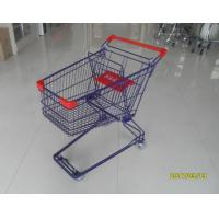 Buy Durable 75 L Grocery Store Shopping Carts Colorful Treatment Coating at wholesale prices