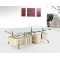 chromed-plated/tempered glass tea/coffee table A055