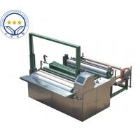 Quality High Speed 50hz Non Woven Cutting Machine Color Touch Screen Parameter for sale