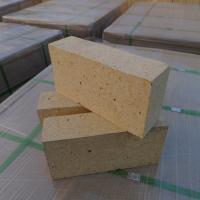Quality Customized Size Heat Resistant Bricks , High Alumina Fire Bricks Natural Yellow Color for sale