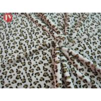 Quality Customized Clothing Home Textile Plush Toy Fabric Knitted Printing Leopard Animal Polyester for sale