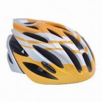 Quality In-mold Bicycle Helmet, Suitable for Adults with High-consistency Black EPS Impact Liner for sale