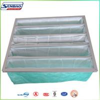 Quality Clean Room Air System Bag Air Filters with Non woven Synthetic Fiber Green Color for sale