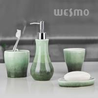 Quality OEM Green Gradient Colors On Bodies Porcelain Bathroom Accessories (WBC0623D) for sale