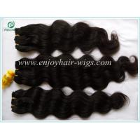 China Peruvian 5A virgin remy hair weave ,natural color(can be dye) Body wave 10''-26''length on sale