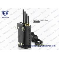 Silver Color Portable Cell Phone Jammer CDMA GSM DCS PCS 3G Efficient Range 0 - 20 Meters