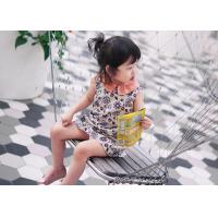 Quality Original printing color matching wing collar sleeveless dresses of the girls for sale