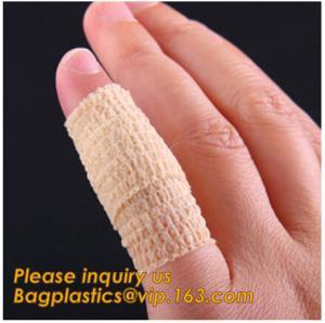 China Fitness Custom made Cotton medical plaster tape sport bandages roll athletic tape,Flexible Bandage Self Adherent bandage on sale