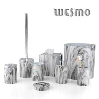Quality 8 Piece Polyresin Bathroom Accessories Sets for sale