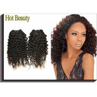 China Tangle Free Human Hair Indian Remi Kinky Curly Hair Extensions Double Weft on sale