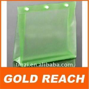 2011 green EVA button closure bag