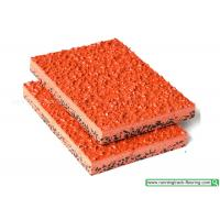 Quality Red Elastic Anti - Slip Rubber Athletic Track / Rubber Running Track Material for sale