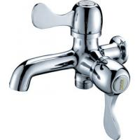 Quality 0.05 - 0.9MPA Single Cold Water Taps with 2 Handles , Chrome Plated Shower Faucet for sale