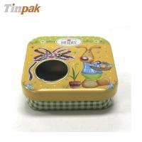 Quality Supplying windowed chocolate metal boxes easter for sale