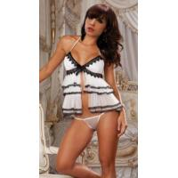 Quality White Ruffle Sexy Babydoll for sale