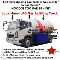 Quality Customized SINO TRUK HOWO 4*2 LHD 10m3 LPG Gas filling Truck with flow-meter for AA RANO from Nigeria, for sale