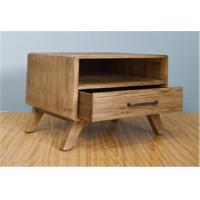 Buy Rustic One Draw Solid Wood Bedside Cabinets , Portable Bedside Night Tables at wholesale prices