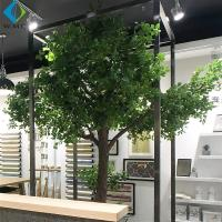 2m Artificial Tree Plant , Decorative Large Ficus Bailey Tree With Wood Trunk for sale