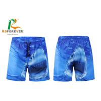 Quality 100% Polyester Dye Sublimation Printing Mens Surf Shorts With Peach Shin Fabric Quick Dry for sale