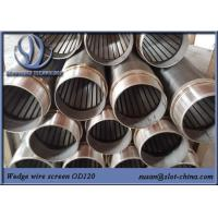 China Water Treatment Johnson Screen Wedge Wire Stainless Steel Slot Tube Water Well Screen on sale