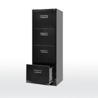 Quality Black SGS 460mm Width Drawer Filing Cabinet for sale