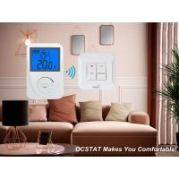 Quality White / Blue Backligt Intellegent Non-programmable RF Heating and Cooling Thermostat for sale