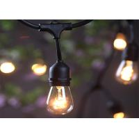 China Heavy Duty String Light Extension Cord 14 Gauge Black Cable With 12 Hanging Sockets on sale