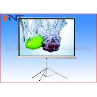 China 120 Inch Portable Projection Projector Screen With Tripod Stand Manual Fixed Lock on sale