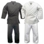 Quality Custom Lightweight Karate Gi / Black Karate Uniform 100cm - 150 cm Size for sale