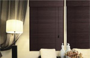 Quality Bamboo Printed 27W 48L Roller  Natural Woven Shade for sale