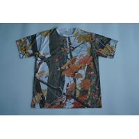Quality Round Neck Custom Printed T Shirts Full Sublimated Polyester With Camouflage for sale