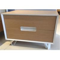 Quality Fashionable Sturdy Indoor Storage Cabinets With 2 Drawers , Hardwood Bedside Tables for sale