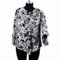 China Black and white yoryu blouse with vest on sale