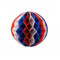 China Multicolor Paper Honeycomb Balls , Foldable Honeycomb Pom Pom Decorations on sale