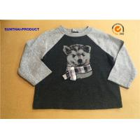China Round Neck Wolf Print Cool Toddler T Shirts , Baby Boy Long Sleeve T Shirt on sale