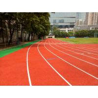 Quality Commercial Jogging Track Flooring , Waterproof Recycled Rubber Floor Tiles for sale