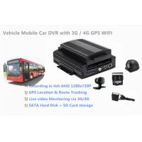 Buy cheap 1TB HDD Support 4 Channels 720P AHD Cameras Car DVR Recorder 3G / 4G GPS WIFI from wholesalers