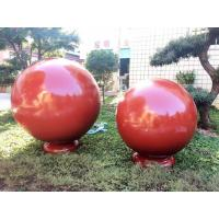 China 25cm Copper Stainless Steel Garden Decorative Balls Ornaments Powder Coating on sale