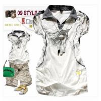 Quality 2009hottest!!+wholesale Price!!+small Order!!+Ladies T-shirt for sale