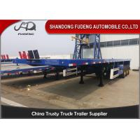 Quality 3 Axles 40 FeetFlatbed Container Trailer Transport 20/40 Feet Container Selling for sale