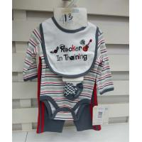 China Organic Cotton Newborn Baby Clothes Set Fashionable Design Baby Fair Trade Clothing on sale