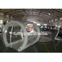 Quality 0.9mm PVC Inflatable Airtight Tent With Pipe , Transparent Backyard Camping Tent for sale