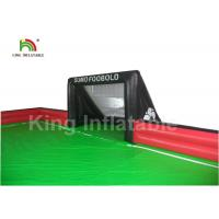 Portable Red Green Inflatable Sports Games / 25 * 10m Inflatable Football Court
